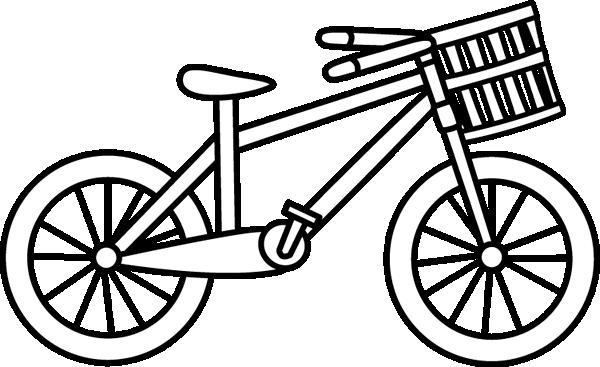 600x367 Basket Clipart Bike