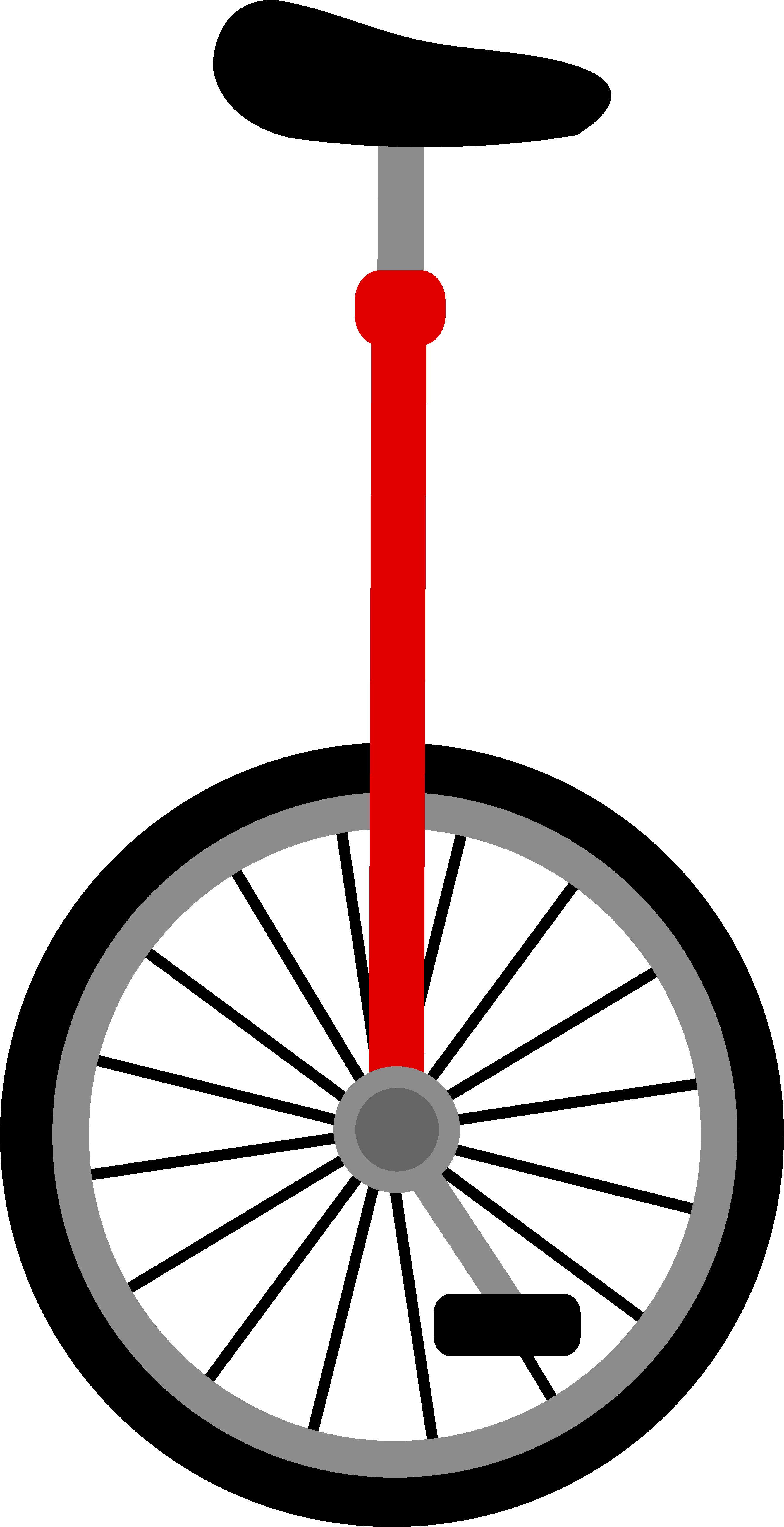2680x5215 Simple Red Unicycle Design