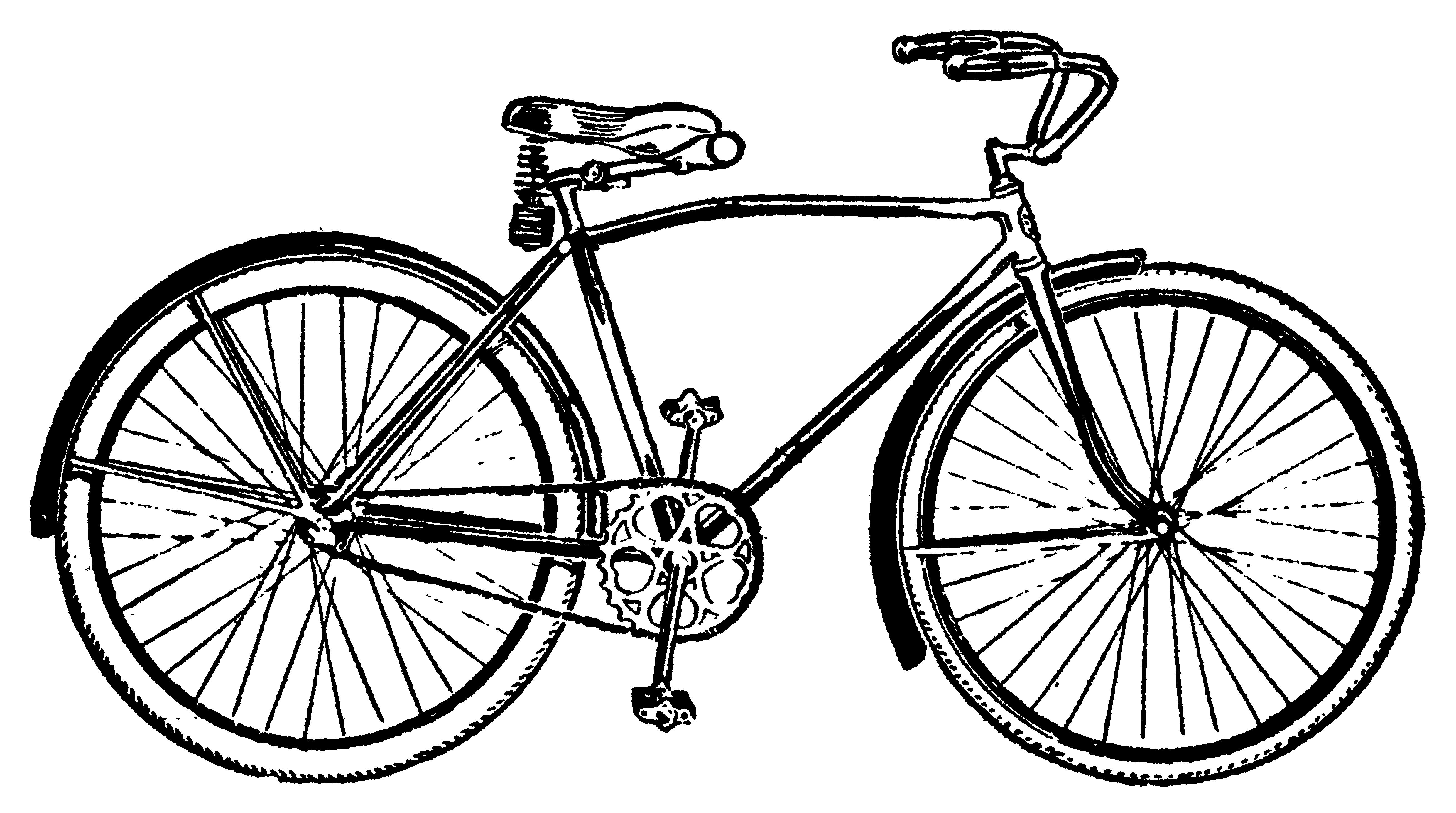5230x2920 Vintage Bicycle Clip Art
