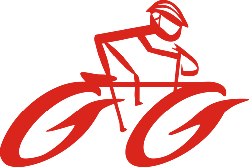 500x337 Forward moving cycling logo clip art Public domain vectors