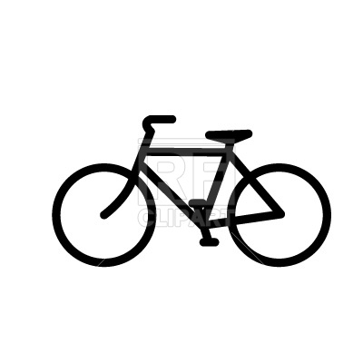 400x400 Bicycle icon Free Vector Clip Art Image