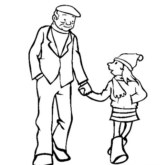570x560 Clipart Of Father Black And White