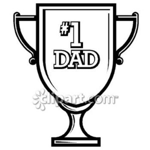 300x300 Number 1 Dad Clipart