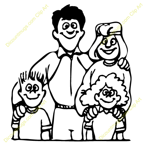 500x500 Portrait Clipart Black And White