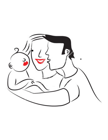 346x448 And Mom Baby Dad Sqesw Clipart