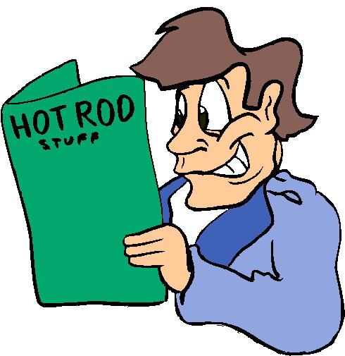 490x505 Dad Reading Hot Rod Stuff Clipart