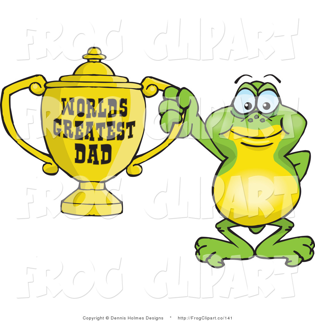 1024x1044 Clip Art Of A Green Frog Character Holding A Golden Worlds