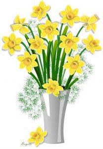 208x300 Unusual Daffodil Clip Art Clipart By Brigitte