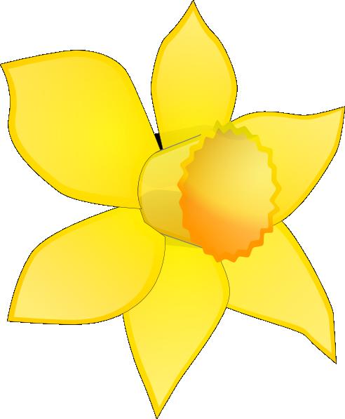 492x597 Daffodil Clipart