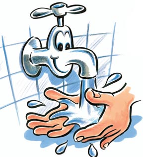 288x315 Germs Hand Washing Clipart
