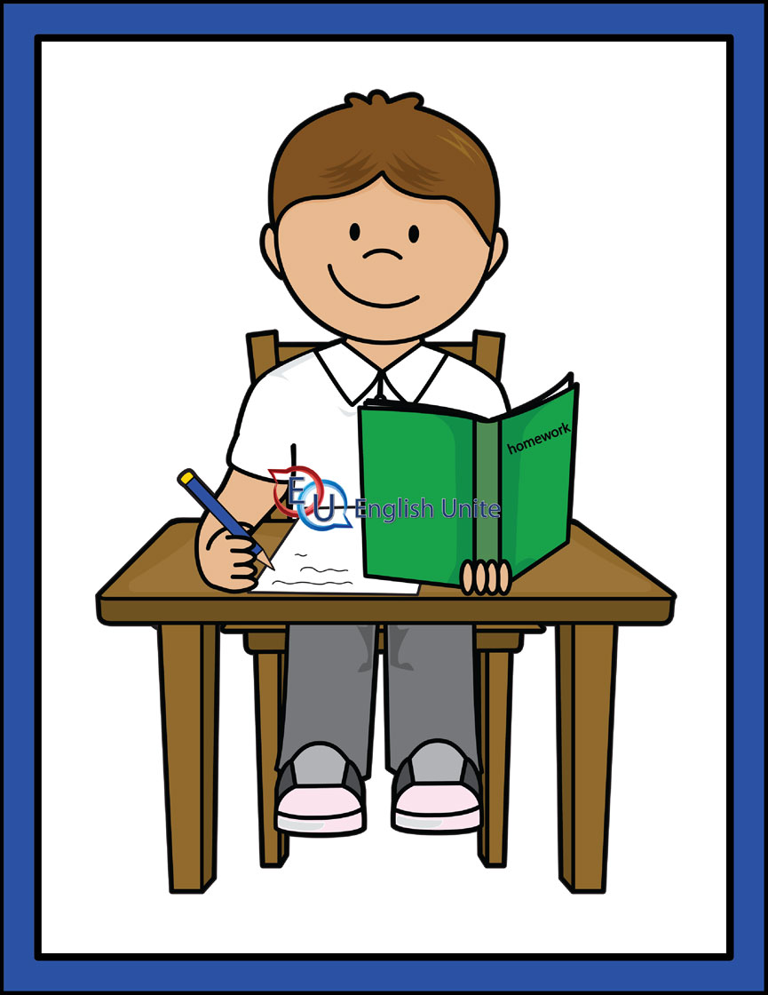 865x1120 Homework Clipart English