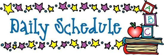550x184 Schedule Clipart 4