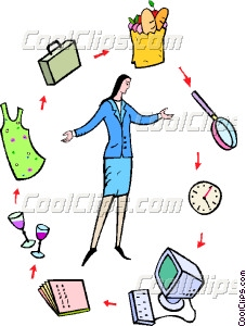 227x300 Standing In The Middle Of Her Daily Routine Vector Clip Art