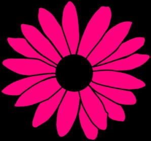 298x279 Hot Pink Daisy Clip Art