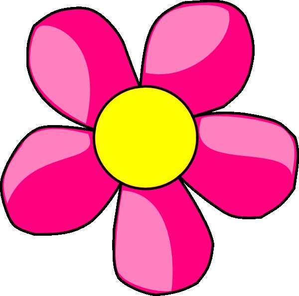 600x594 Pink Daisy Clip Art