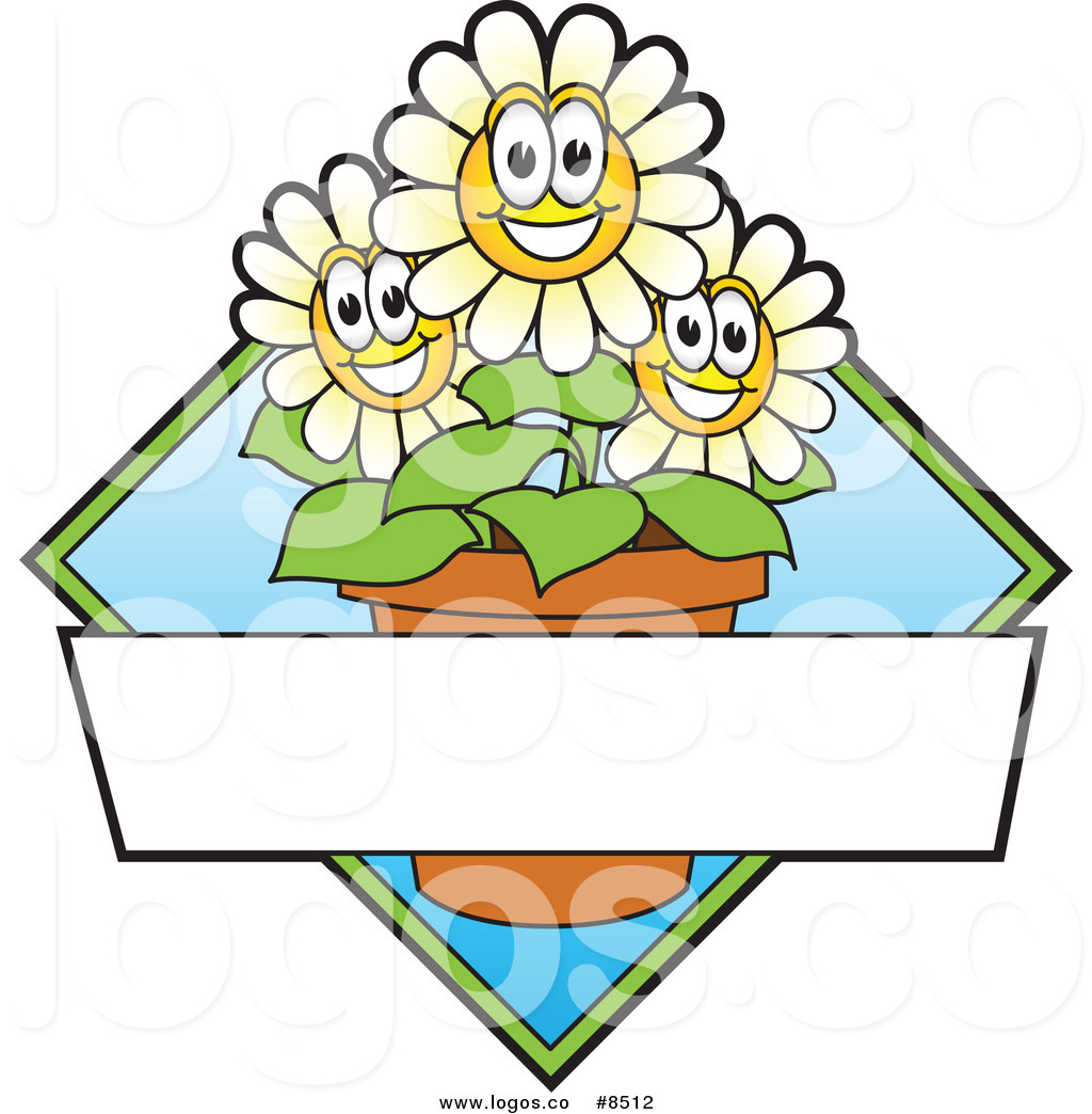 1024x1044 Royalty Free Clip Art Vector Logo Of Happy Daisy Flowers By