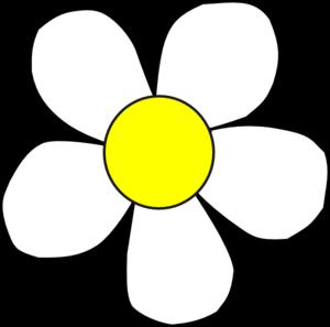 300x297 White Yellow Daisy Clip Art