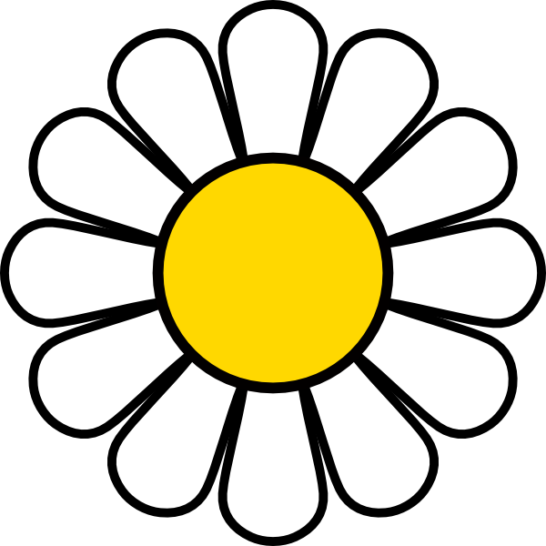 600x600 Yellow Daisy Clip Art