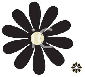 300x270 Daisy Clipart Black And White