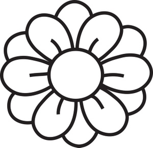 300x291 Daisy Clipart Black And White