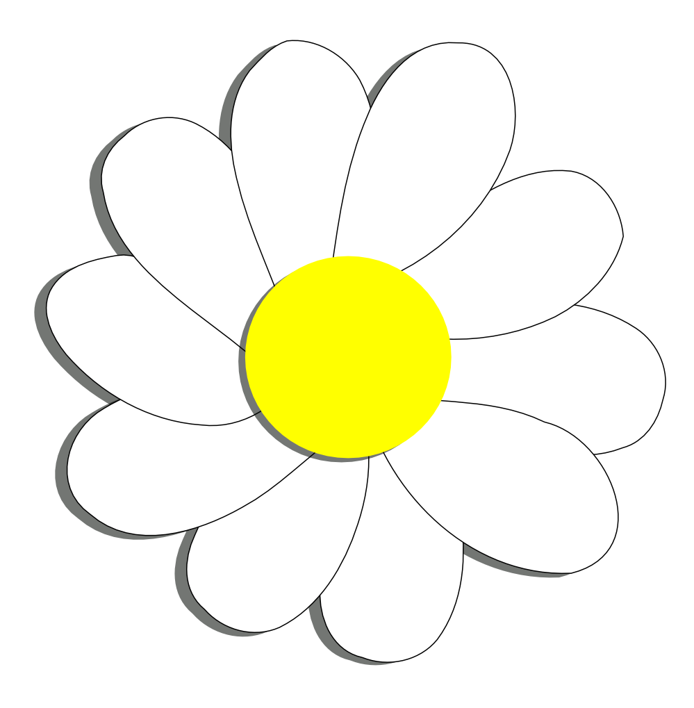 999x1019 Daisy Flower Clip Art Black And White Free