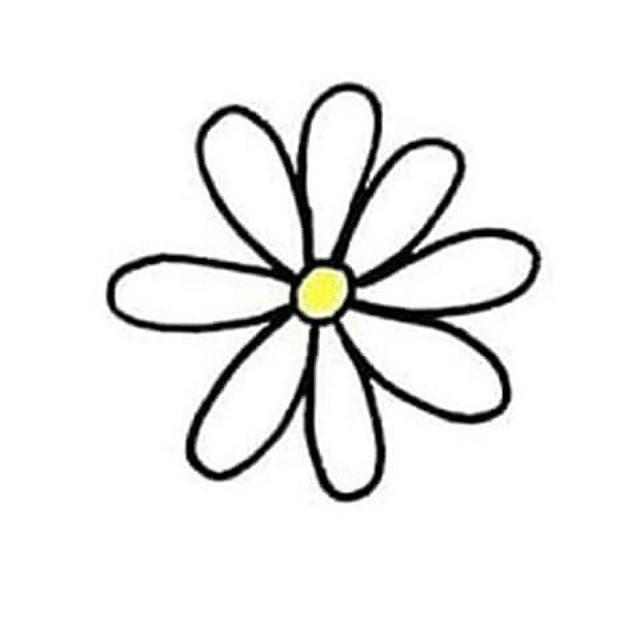 640x640 Drawn Daisy Transparent