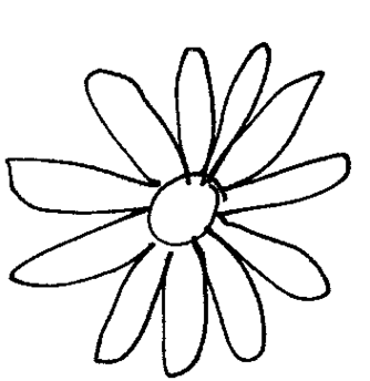334x344 Black Daisy Clipart Free To Use Clip Art Resource