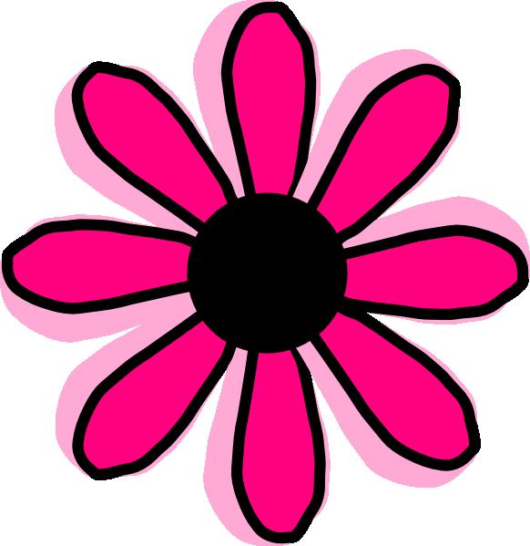 582x599 Pink Daisy Clipart Pink Daisy Flower Clipart Clipart Panda Free
