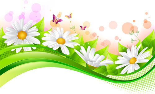 500x305 Spring Flowers Border Clip Art Free Vector Download (214,065 Free