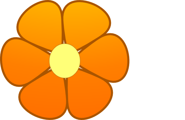 600x390 Daisy Clipart Orange Flower