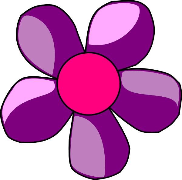 600x594 Daisy Clipart Purple Pink Flower