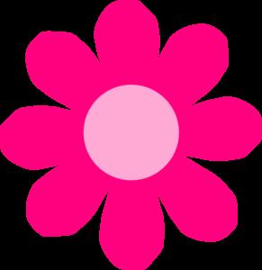 291x300 Pink Daisy Flower Clip Art