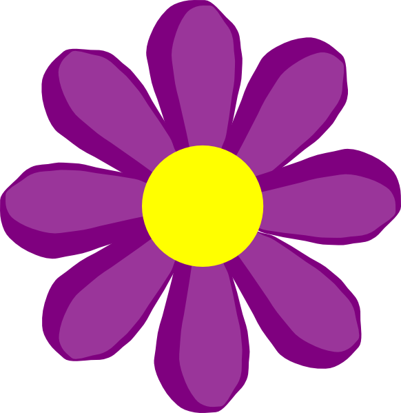582x599 Purple Flower 10 Clip Art