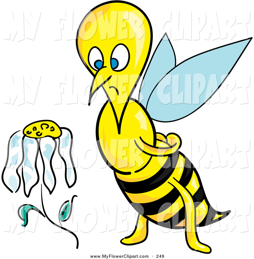 1024x1044 Clip Art Of A Sad Honeybee Staring