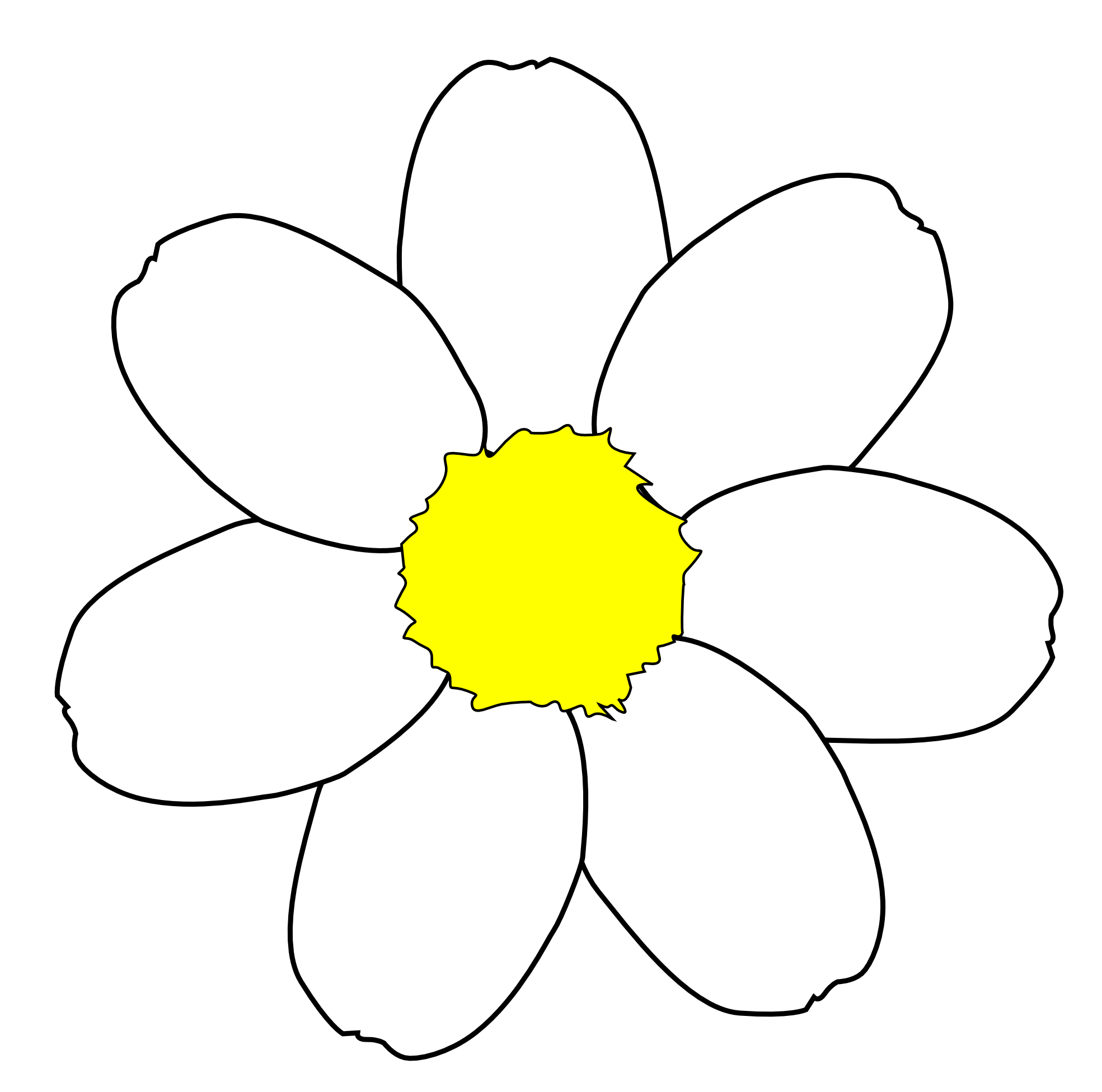 1969x1952 Daisy Flower Outline