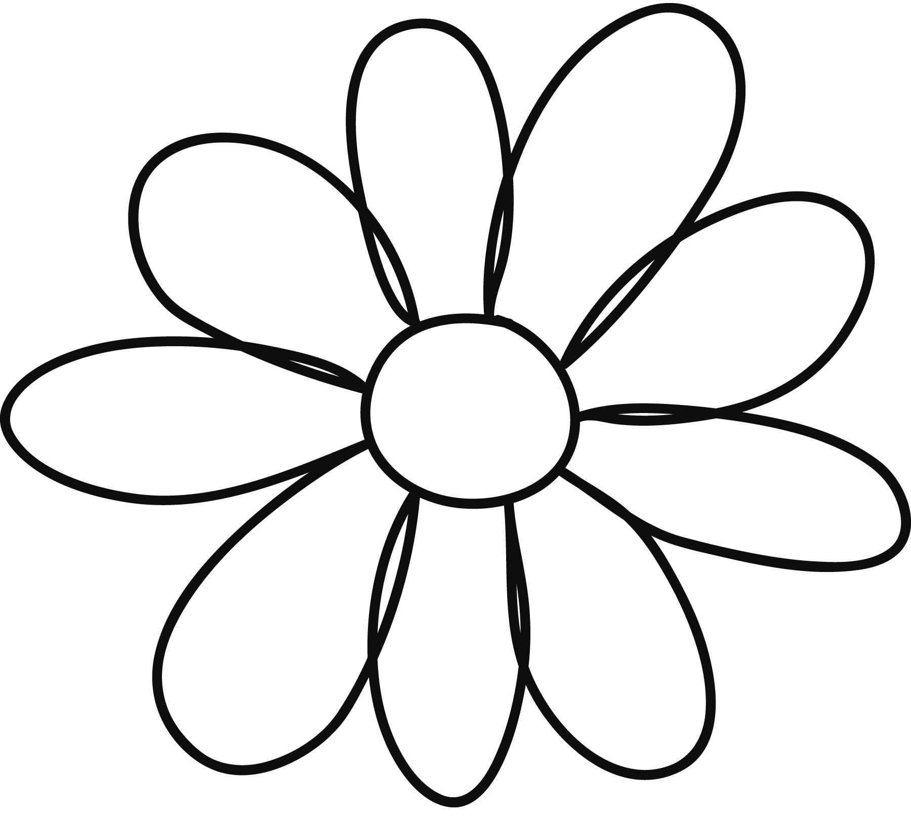 Daisy Flower Outline   Free download on ClipArtMag