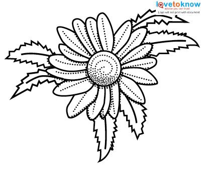 406x339 Daisy Tattoo Designs