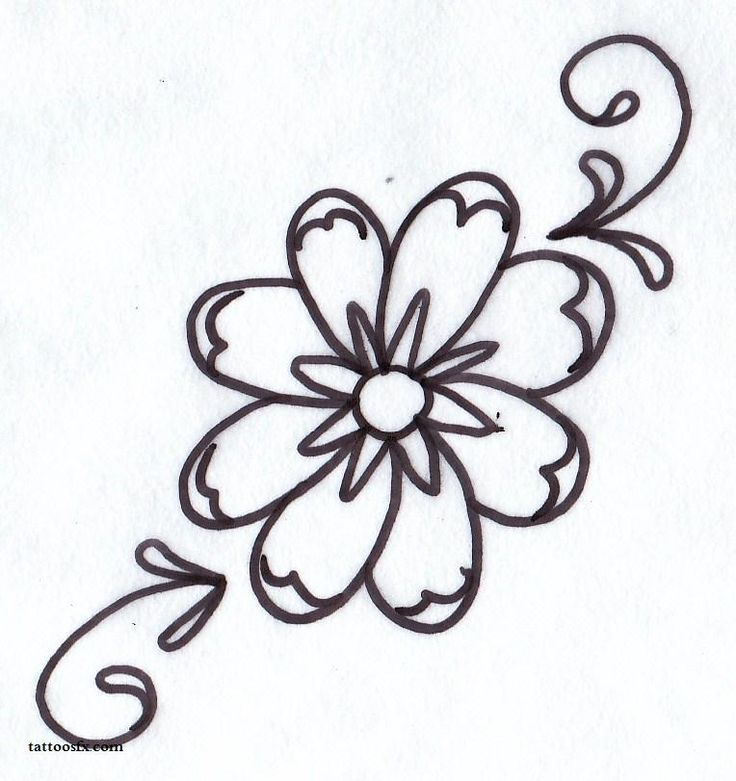 736x781 39 Best Simple Flower Tattoos Images Flower Side