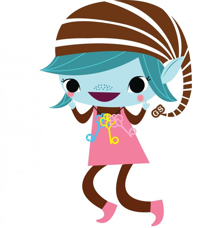 736x796 Brownie Girl Scout Clipart