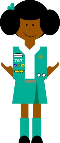200x477 Free Girl Scout Clip Art