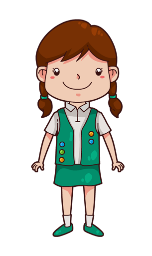 305x511 Girl Scout Clipart