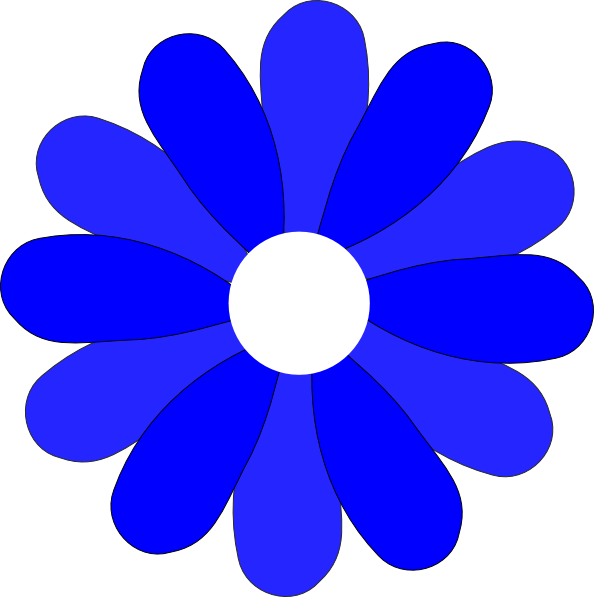 594x597 Blue Gerbera Daisy Svg Clip Arts Download