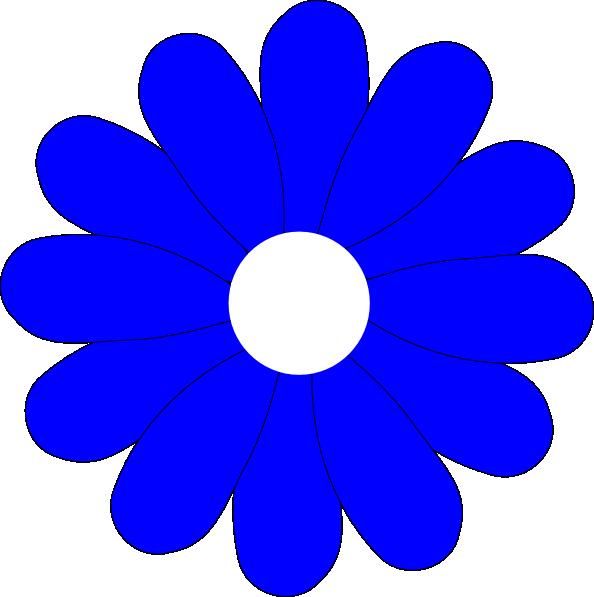 594x597 Blue Gerbera Daisy Svg Clip Arts Download
