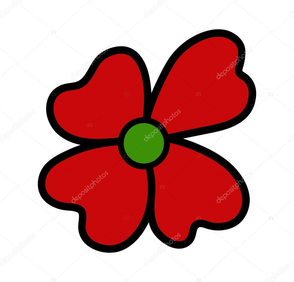 1023x979 Red Daisy Clipart Stock Vector Baavli