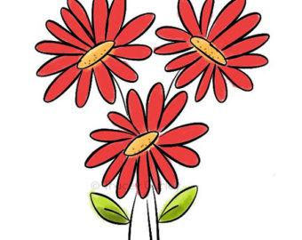 340x270 Vintage Gerber Daisy Clipart