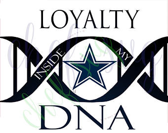 340x270 Dallas Cowboys Loyalty In My Dna Svg Quote, Quote Overlay, Svg