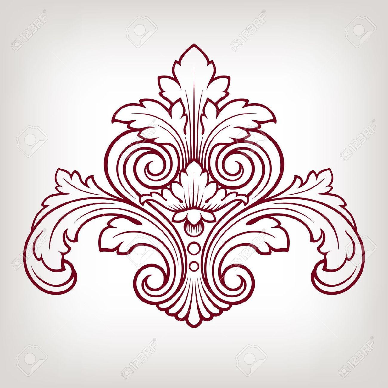 1300x1300 Vintage Baroque Damask Design Frame Pattern Element Engraving