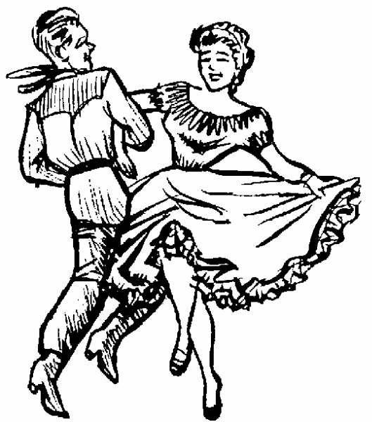 529x600 Ballet Dancer Clip Art Square Dance Clip Art Vintage People
