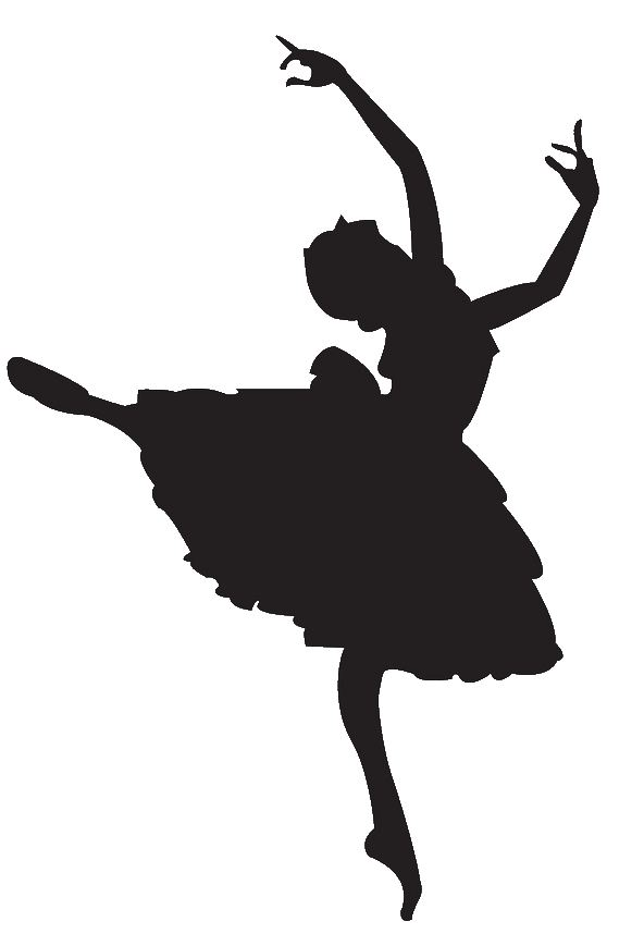 592x869 Ballerine Clipart Black And White