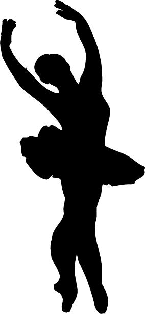 284x616 Ballet Clipart Black And White